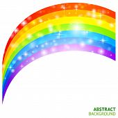 image of triskele  - Abstract vector background with rainbow and lucky clover - JPG