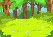 Forest Glade. Cartoon-Hintergrund. Vektor-Illustration EPS 10.