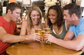 picture of hair integrations  - Two couples having beer together - JPG