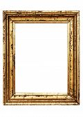 Weathered Golden Picture Frame W/ Path poster
