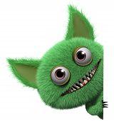 picture of gremlins  - 3 d cartoon cute green gremlin monster - JPG