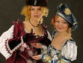 Girls In Historical Clothes Of 16-17 Centuries poster