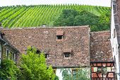 Riquewihr (alsace) - Old Houses And Vineyard