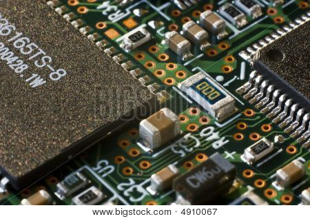 Semiconductor Circuit Board Closeup