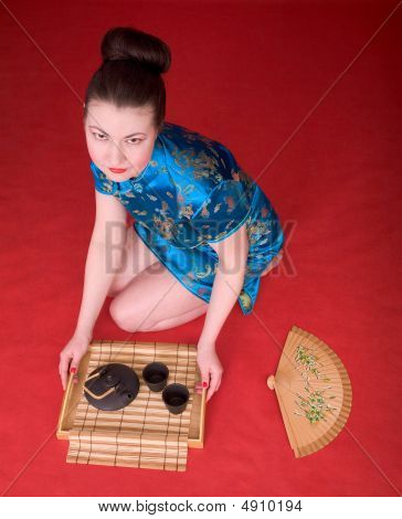 Japanese Girl From Tea Ceremony