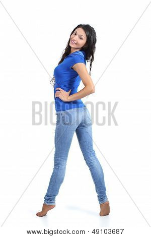 Beautiful Woman Posing With Jeans