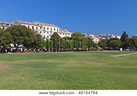 The Liston square at Corfu island