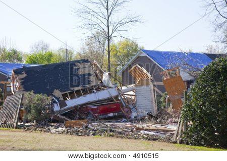 Tornado Destroyed Home