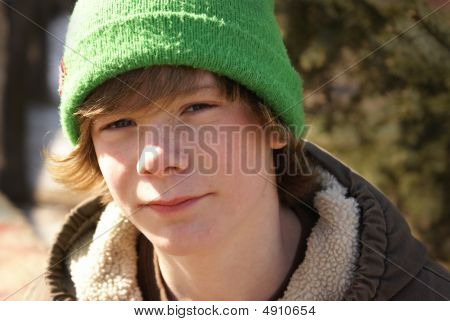 Teen Boy Outside