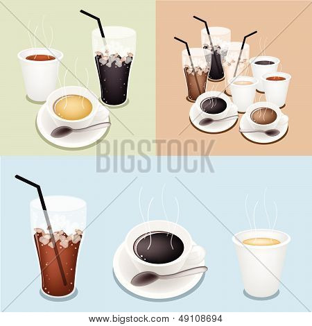 Hot Coffee, Takeaway Coffee And Iced Coffee