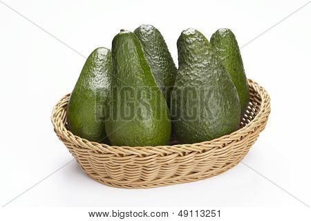 Basket Of Avocados