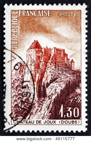Postage Stamp France 1965 Joux Chateau, Doubs