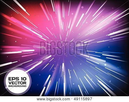 Vector Abstract Space Tunnel