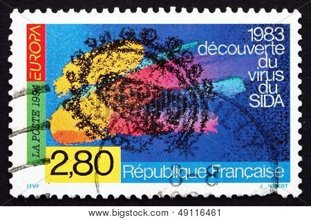 Postage Stamp France 1994 Discovery Of Aids Virus