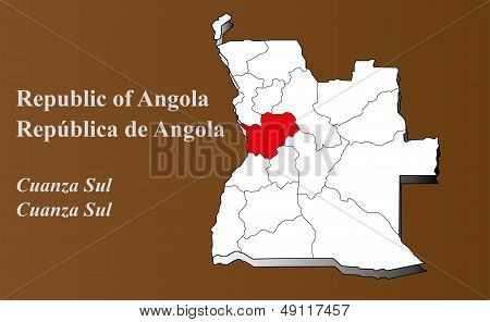 Angola - Cuanza Sul Highlighted