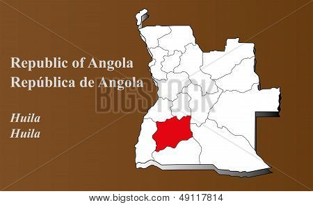 Angola - Huila Highlighted