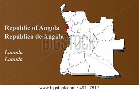 Angola - Luanda Highlighted
