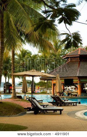 Swimming Pool Of Tropical Resort
