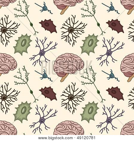 seamless pattern of the neurons