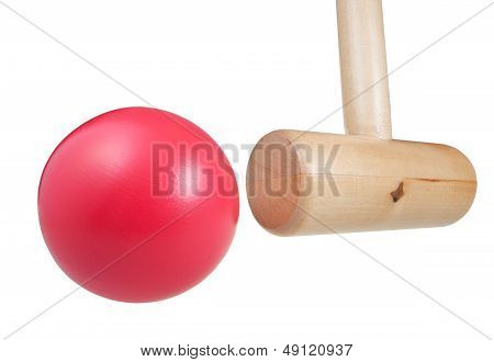 Croquet Wooden Ball And Mallet