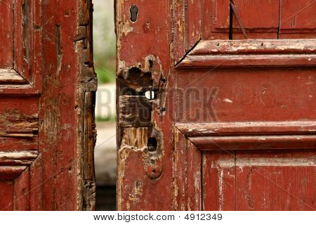 Very Old Red Door