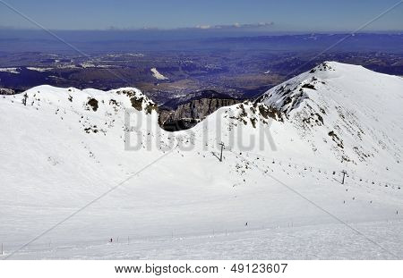 Skiing In Tatra Mountains In Poland