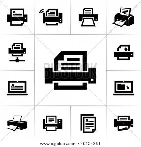 Ícones da impressora