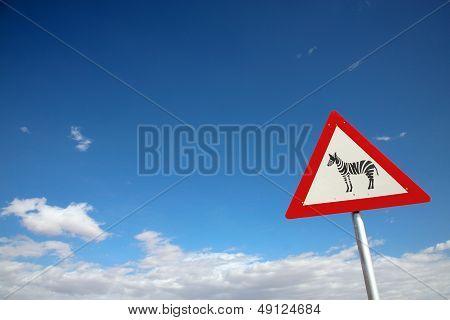 Signboard Zebra