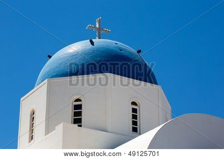 18Th Century Church And Its Distinctive Blue Domed Tower