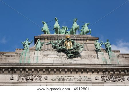 The Triumphal Arch In Brussels