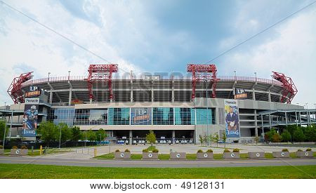 Lp Field In Nashville, Tn In The Morning