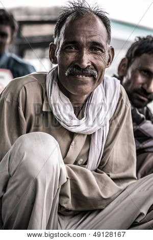 Portrait Of A Man In India