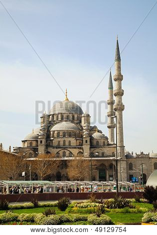 Yeni Cami (the New Mosque) In Istanbul