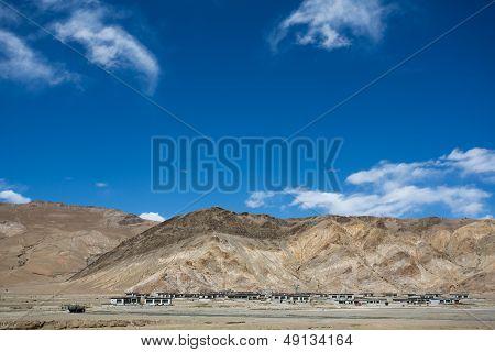 Typical Tibetan Village On The Friendship Highway