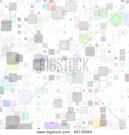 Abstract Technical Geometric Square Background