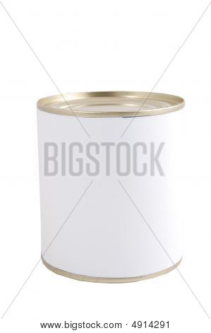 Isolated White Tin