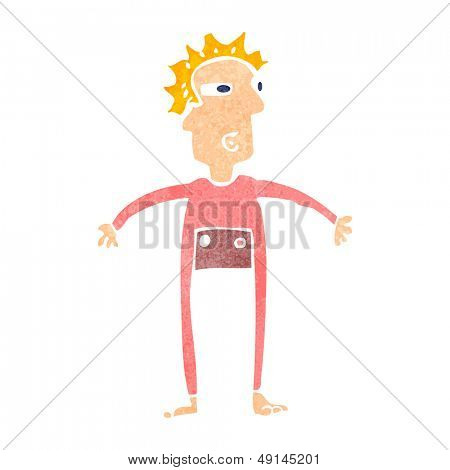 retro cartoon man in onesie underwear