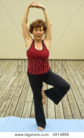 Senior Woman Yoga