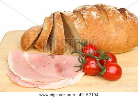 Bread Ham And Tomatoes