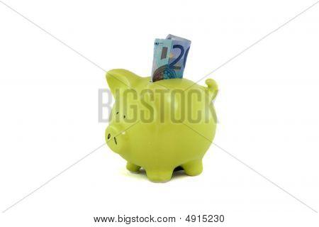 Saving Money At A The Piggybank.