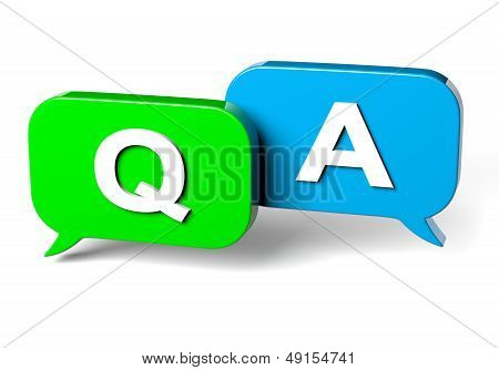 Bubble Speech Question And Answer Concept