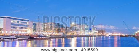 Panorama Of The Dublin Docklands