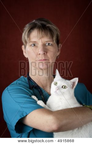 Veterinarian With Cat
