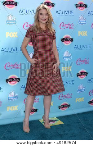 LOS ANGELES - AUG 11:  Maddie Hasson at the 2013 Teen Choice Awards at the Gibson Ampitheater Universal on August 11, 2013 in Los Angeles, CA
