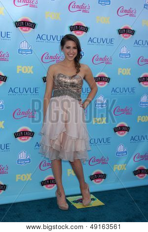 LOS ANGELES - AUG 11:  Eden Sher at the 2013 Teen Choice Awards at the Gibson Ampitheater Universal on August 11, 2013 in Los Angeles, CA