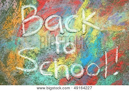 Back To School Written In Chalk