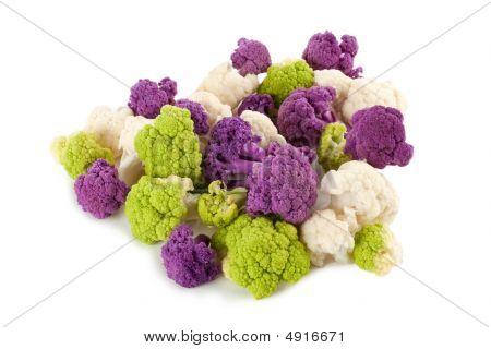 Colorful Cauliflower Florets