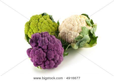 Colorful Cauliflower Heads