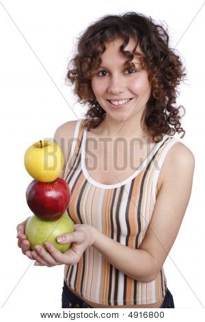 Woman With Apples.