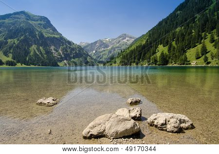 Postcard Picture Of A Lake And Mountain
